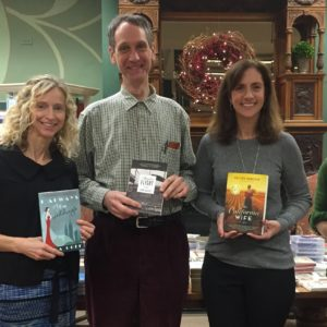 At Barrett's Books in Darien, CT with authors Harry Haskell, Sara Goff and Kristen Harnisch