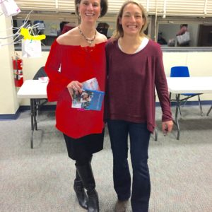 With author Jamie Beck at the Norwalk Library