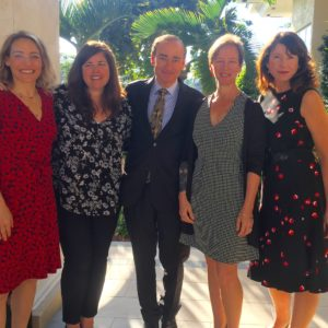 In Boca Raton at the Brandeis National Committee Luncheon with Lisa Unger, Chris Bohjalian, Therese Fowler and Paula McLain