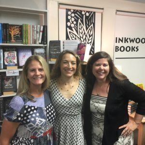 With Lisa Unger and Stefani Beddingfield at Inkwood Books in Tampa