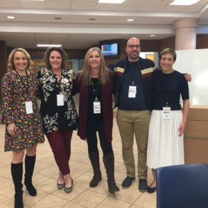 Wendy Walker, Kate Moretti, Lynne Constantine, Riley Sager and Cristina Alger at the event sponsored by the Friends of the Simsbury (CT) Public Library