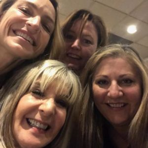 Wendy Walker, Hank Phillippi-Ryan, Lynne Constantine and Aimee Molloy at the event sponsored by the Friends of the Simsbury (CT) Public Library
