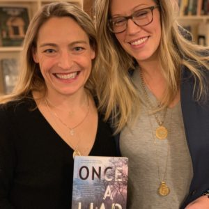 With AF Brady at her event for Once A Liar in NYC