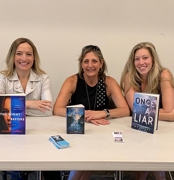 Wendy Walker, Wendy Corsi Staub and AF Brady at The Katonah Public Library